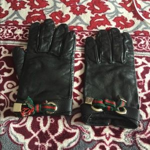 💯Authentic Gucci leather gloves